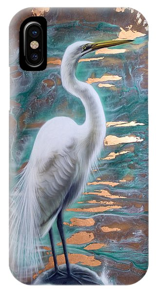 Copper Egret IPhone Case