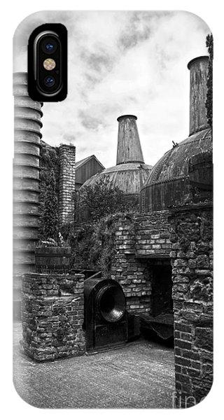 Copper Pot Stills And Column Still At Lockes Distillery Bw IPhone Case