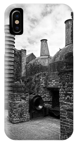 Copper Pot Stills And Column Still At Lockes Distillery Bw IPhone Case
