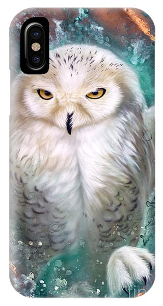 Copper Snowy Owl IPhone Case