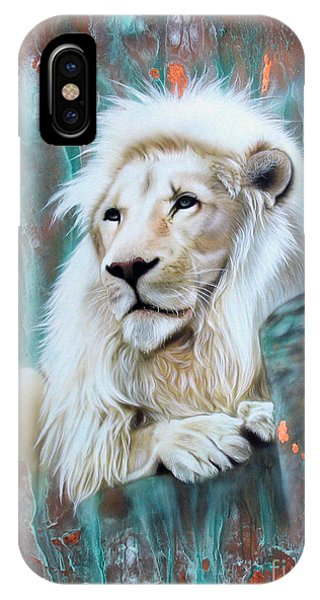 Copper White Lion IPhone Case