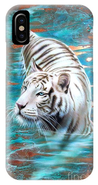 Copper White Tiger IPhone Case