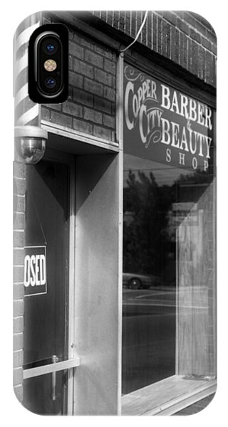 Copperhill Barber Shop IPhone Case