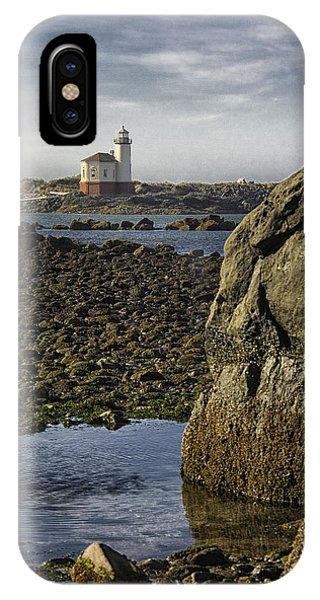 Coquille River Lighthouse Phone Case by Jeanne Hoadley