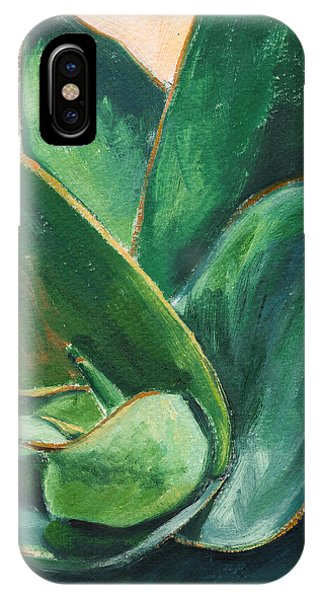Cactus iPhone Case - Coral Aloe 3 by Athena Mantle