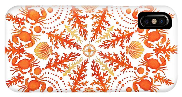 Coral Crab Mandala IPhone Case