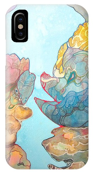 Coral Reef Small Phone Case by Maya Simonson