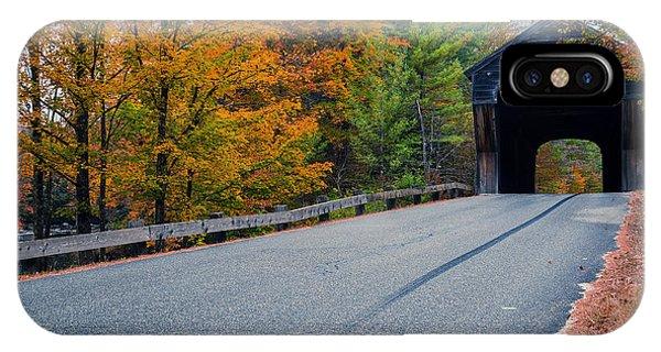 New Hampshire iPhone Case - Corbin Covered Bridge New Hampshire by Edward Fielding