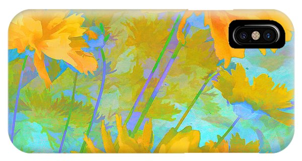 Coreopsis - Yellow And Green IPhone Case
