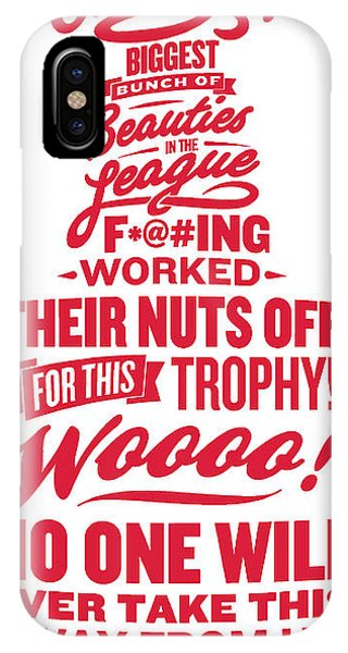 Corey Crawford Cup Speech Phone Case by The Heckler