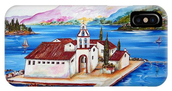 Corfu' Convent Of The Virgin Mary On Vlachema IPhone Case