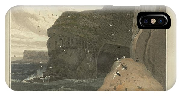 Cormorants Cave On The Cliffs Of Staffa IPhone Case