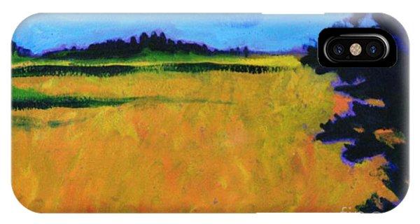 Corn Field In Fall IPhone Case