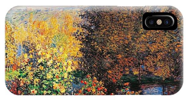 19th Century iPhone Case - Corner Of Garden In Montgeron by Claude Monet