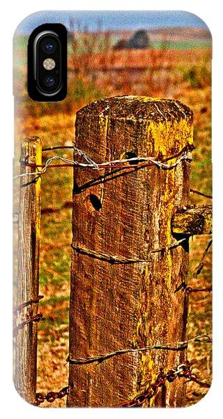 Corner Post At Gate IPhone Case