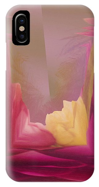 Cornered Yellow Rose IPhone Case