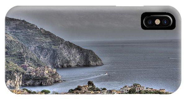 Corniglia And Manarola By The Sea IPhone Case