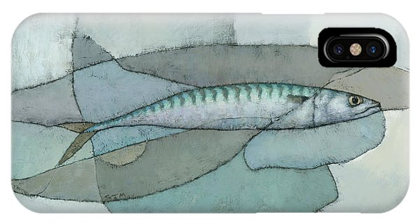 IPhone Case featuring the painting Cornish Mackerel by Steve Mitchell