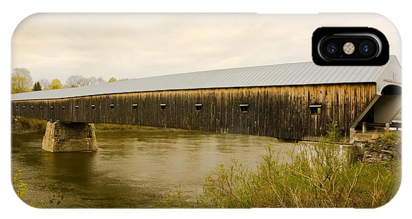 Cornish - Windsor Covered Bridge IPhone Case