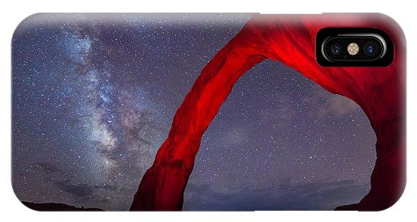 Corona Arch Milk Way Red Light IPhone Case
