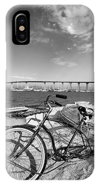 Coronado iPhone Case - Coronado Bridge Bike by Peter Tellone