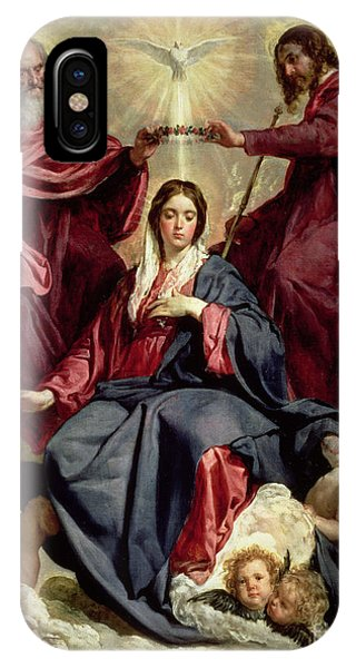 Goddess iPhone Case - Coronation Of The Virgin by Diego Velazquez