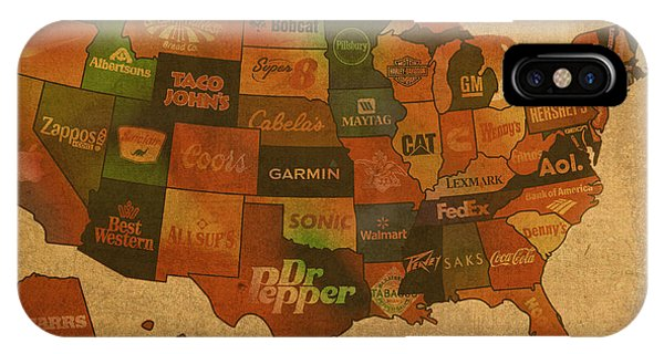 United States iPhone Case - Corporate America Map by Design Turnpike