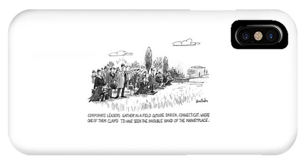 Corporate Leaders Gather In A Field IPhone Case