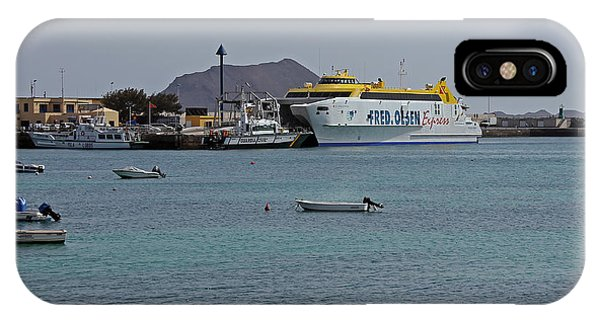 Corralejo Harbour IPhone Case