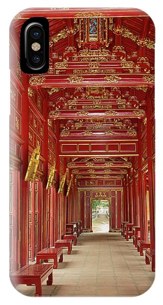 Forbidden City iPhone Case - Corridor In The Forbidden Purple City by David Wall
