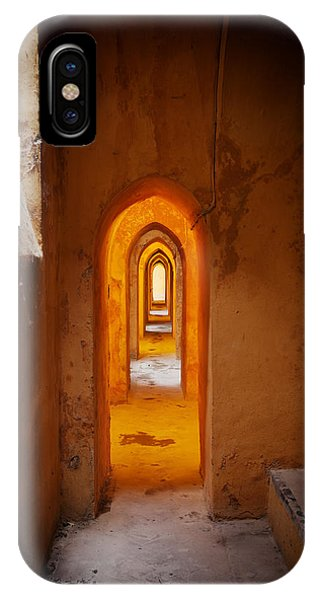 Corridor In The Real Alcazar Of Seville IPhone Case