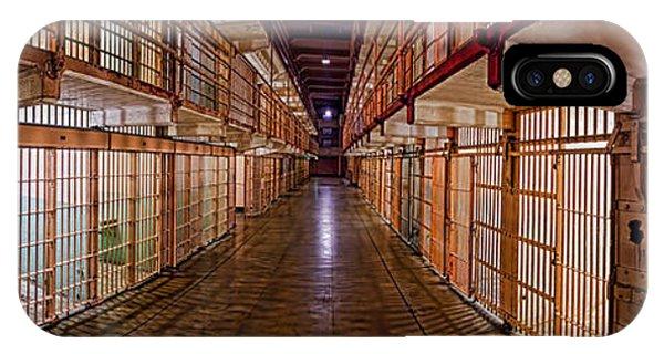 Corridor Of A Prison, Alcatraz Island IPhone Case