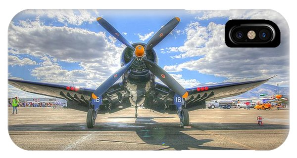 Corsair On The Flight Line At Reno Air Races IPhone Case
