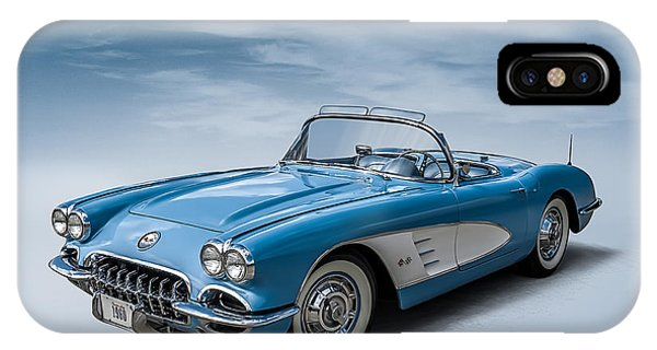 Vintage iPhone Case - Corvette Blues by Douglas Pittman