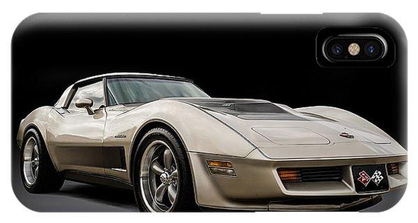 Mancave iPhone Case - Corvette C3 by Douglas Pittman