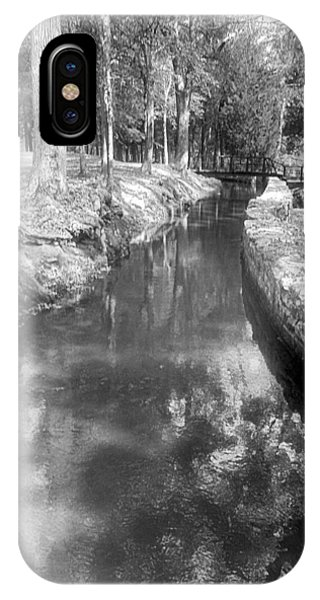 Cosley Forest Canal In Black And White IPhone Case