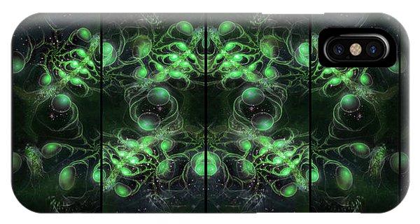 Cosmic Alien Eyes Green IPhone Case