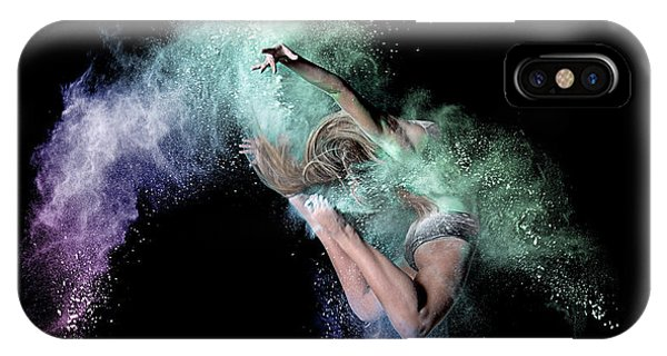 Explosion iPhone X Case - Cosmic Dancer by Pauline Pentony Ma