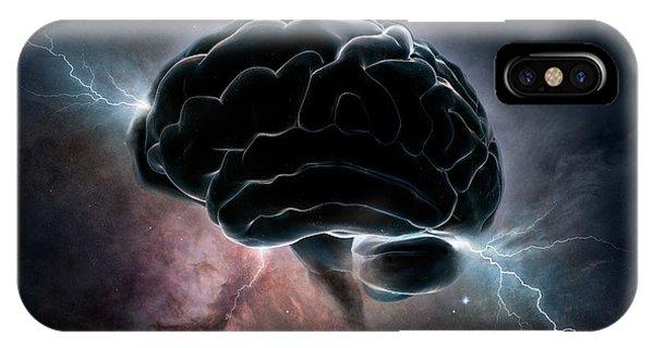 Creation iPhone Case - Cosmic Intelligence by Johan Swanepoel