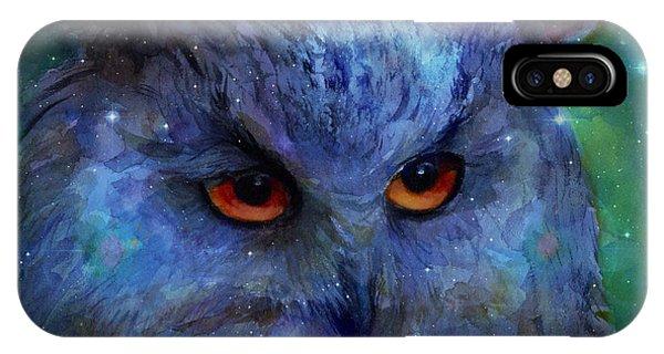 Cosmic Owl Painting IPhone Case