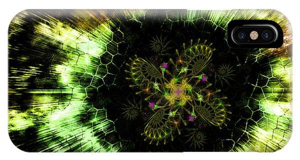 Cosmic Solar Flower Fern Flare IPhone Case