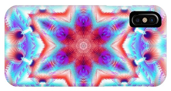 Cosmic Spiral Kaleidoscope 45 IPhone Case