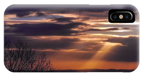 Cosmic Spotlight On Shannon Airport IPhone Case