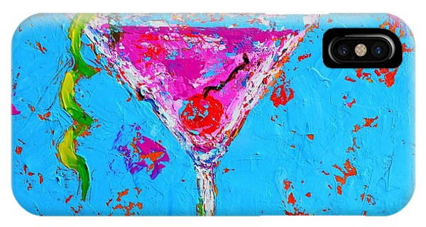 Cosmopolitan Martini Cherry Flavored - Modern Art IPhone Case
