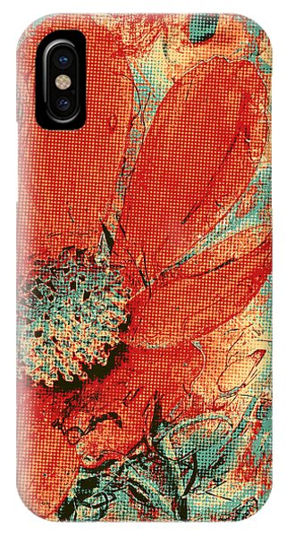 Cosmos Flower Colorized Halftone IPhone Case