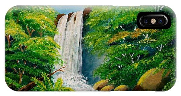 Costa Rica Waterfall IPhone Case
