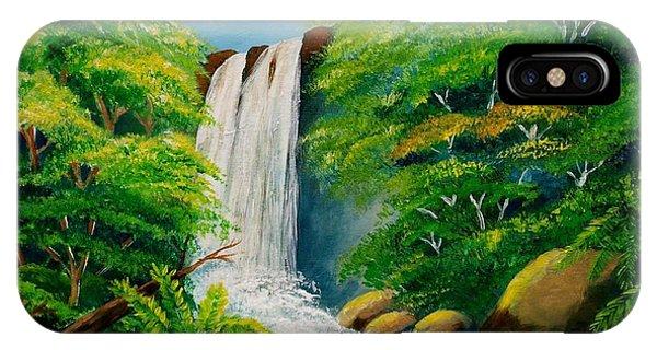 Costa Rica Waterfall IPhone Case