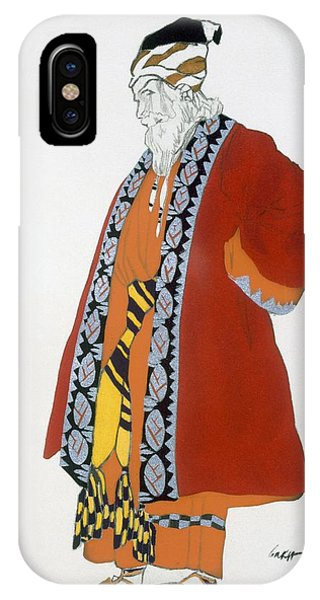 Dance iPhone Case - Costume Design For An Old Man In A Red by Leon Bakst