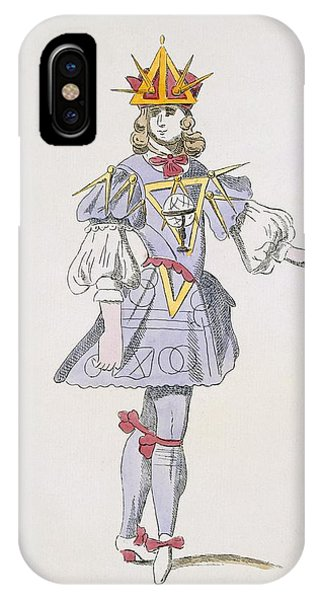 Baroque iPhone Case - Costume Design For Geometry In A 17th by French School