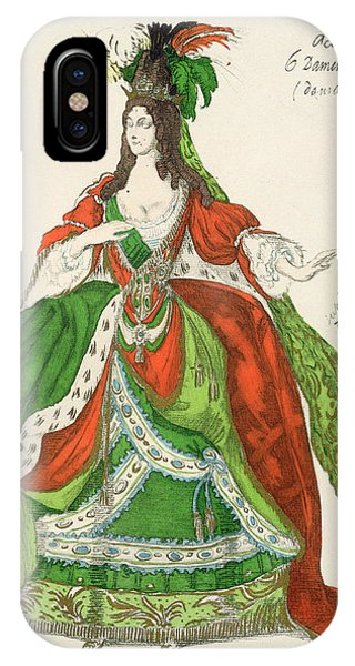 Dance iPhone Case - Costume For A Female Courtier by Leon Bakst